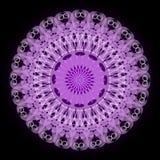 Mandala porpora di mistero per addestramento di meditazione illustrazione vettoriale