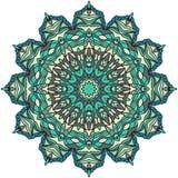 Mandala pour l'art, l'adulte et le livre de coloriage d'enfants, zendoodle Le zentangle rond tiré par la main peut être conceptio image libre de droits