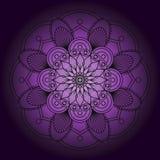 Mandala preta abstrata Imagens de Stock