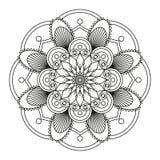 Mandala preta redonda Foto de Stock