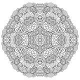 Mandala preto e branco Imagem de Stock