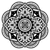 Mandala preto e branco Fotos de Stock Royalty Free