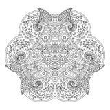 Mandala preto e branco Imagens de Stock