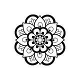 Mandala preto e branco fotos de stock