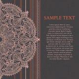 Mandala projekt, elegancka ślubna karta z linią i mandala, Obraz Stock