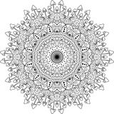 Mandala psicodélica de la seta ilustración del vector