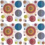Mandala psychedelic pattern Royalty Free Stock Image