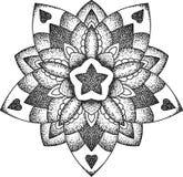 Mandala punteggiata stella Immagini Stock