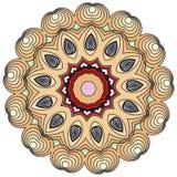 Mandala que colorea caleidosc?pica e ilustrativa india colorida stock de ilustración