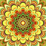 Mandala rayada de la flor colorida stock de ilustración
