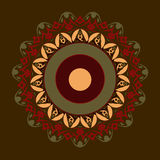 Mandala in red colours Stock Image