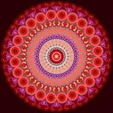 Mandala. Red Mandala. Ethnic decorative elements. Hand drawn background royalty free illustration