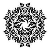 Mandala redonda abstracta geométrica negra ilustración del vector