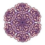 Mandala redonda abstrata Ilustração Royalty Free