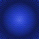 Mandala redonda abstrata na esfera azul - fundo quadrado Imagens de Stock Royalty Free