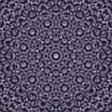 Mandala redonda abstrata na obscuridade - azul às cores brancas - fundo quadrado Fotos de Stock