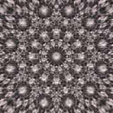 Mandala redonda abstrata no fundo monocromático do quadrado da gama Imagens de Stock