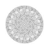 Mandala redonda de Mendie con las mariposas en el prado Fotos de archivo