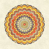 Mandala redonda del vintage colorido libre illustration