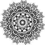 Mandala redonda floral del cordón Foto de archivo libre de regalías