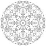 Mandala redonda geométrica del modelo Fotos de archivo