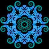 Mandala reptil Fotografía de archivo libre de regalías