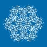 Mandala resumida en fondo azul vendimia stock de ilustración