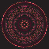 mandala Reticolo decorativo indiano Immagini Stock Libere da Diritti