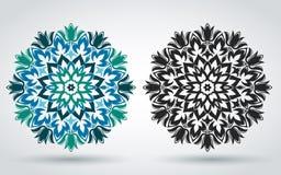 mandala Reticolo floreale decorativo Orientale, indiano, turco, ornamento islamico Modello per la decorazione dei tessuti, insegn illustrazione vettoriale