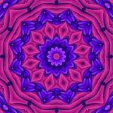 Mandala retra de neón Fotos de archivo libres de regalías