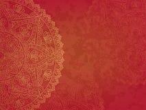 Mandala retro rode achtergrond Royalty-vrije Stock Afbeelding