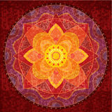 Mandala roja Imagenes de archivo