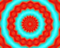 Mandala roja, formas y formas, fondo abstracto ilustración del vector