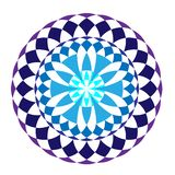 Mandala rond bleu d'hiver illustration stock