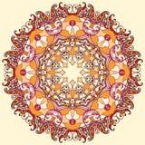 Mandala rond d'ornement floral Photos stock