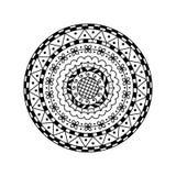 Mandala rond de vecteur Ornement décoratif ethnique Page de coloration Photos stock
