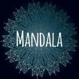 Mandala rond indien décoratif de dentelle Invitation, carte de mariage Mandala Design illustration de vecteur