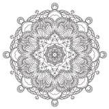 mandala Rond ornament Stock Afbeelding