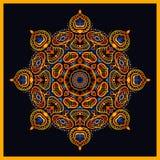 mandala Rond Ornamentpatroon Stock Afbeelding