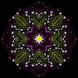 mandala Rond Ornamentpatroon Royalty-vrije Stock Afbeelding