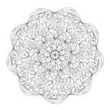 Mandala, rond ornamentpatroon Stock Fotografie