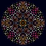 mandala Rond Ornamentpatroon met gebak Royalty-vrije Stock Afbeelding