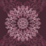 Mandala rosada ilustración del vector