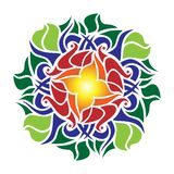 Mandala rose d'Ornamental illustration libre de droits