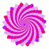 Mandala rose et violet abstrait, fleur d'isolement sur le fond blanc, la fleur pourpre et magenta de fractale, mandala ésotérique illustration stock