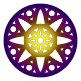 Mandala rosette round design Royalty Free Stock Photography