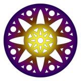 Mandala rosette round design. Round shape mandala vector design Royalty Free Stock Photography