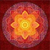 Mandala rossa Immagini Stock