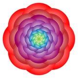 Mandala rossa del cerchio del fiore illustrazione vettoriale