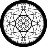Mandala rotonda Fotografie Stock